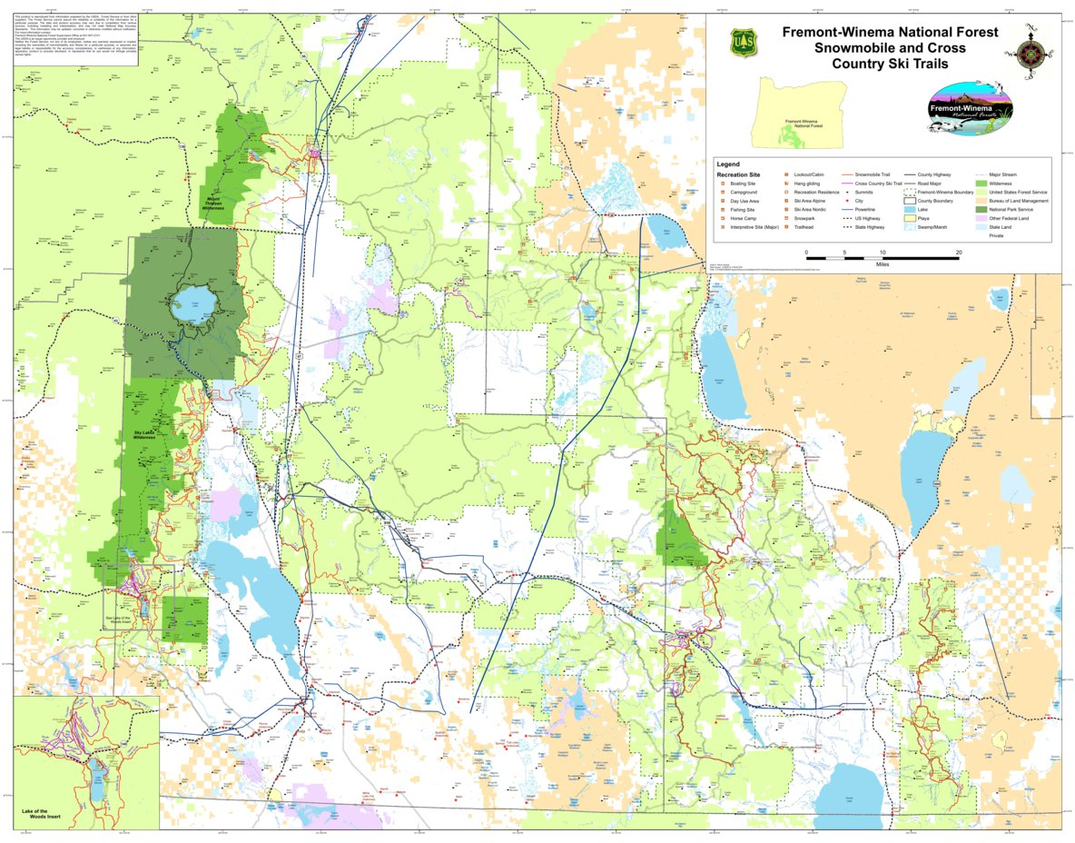 FremontWinema Winter Trails US Forest Service R6 Avenza Maps