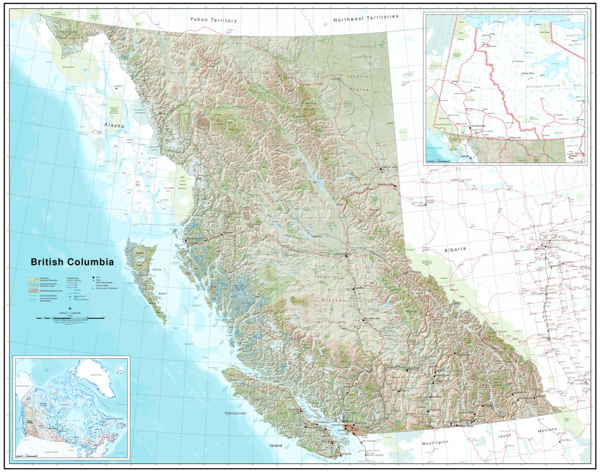 Topographic Map British Columbia British Columbia Topographic Map   GeoBC   Avenza Maps