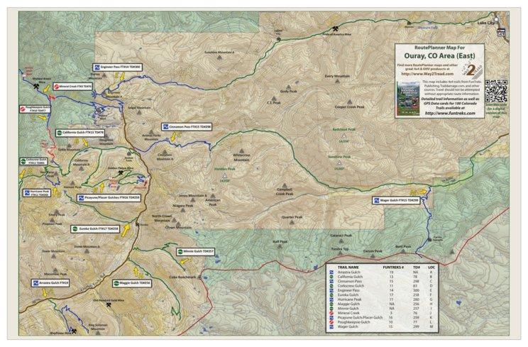 Ouray Route Planner (East) - Zaxyn Media LLC / Way2Tread - Avenza Maps
