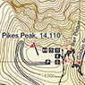 Pikes Peak - Barr Trail and Cog Rail Map