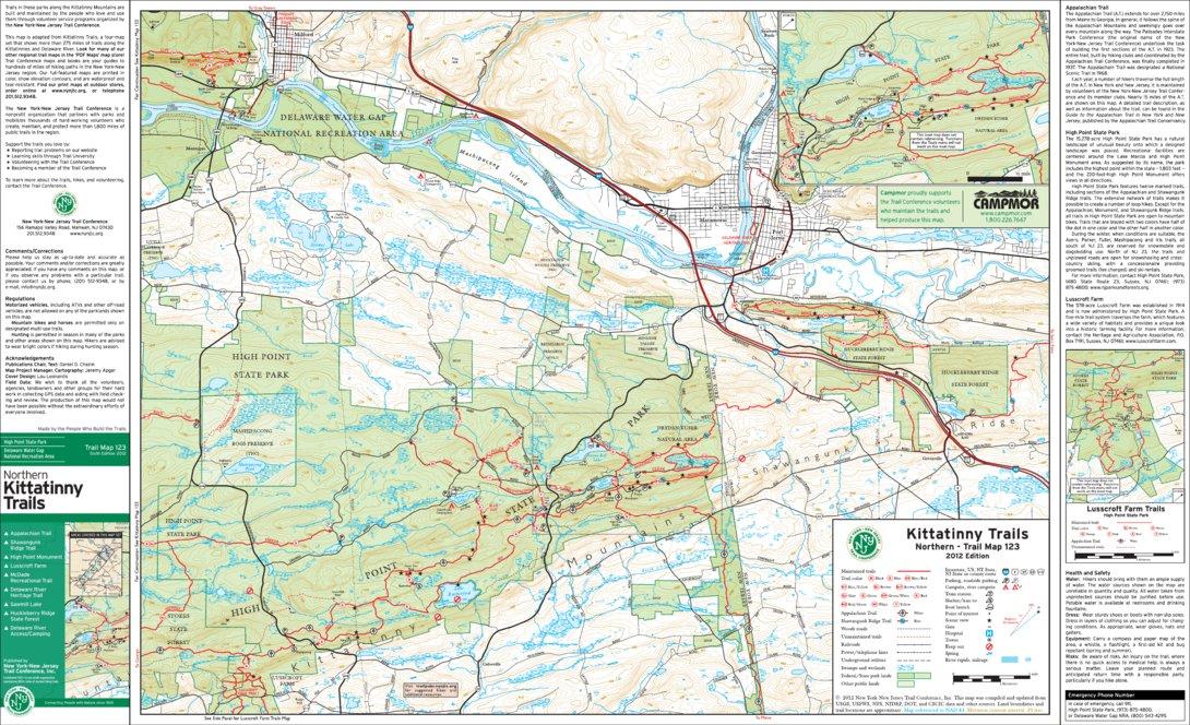 OLD EDITION* NY-NJ Trails - Kittatinny 4-Map Bundle - New York-New on parvin state park cabin map, kittatinny river fishing in pa, kittatinny mountains trail map, kittatinny state park camping, kittatinny valley state park, nj state parks map,