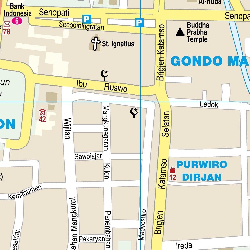 Citymap Yogyakarta - Reise Know-How Verlag Peter Rump GmbH - Avenza Maps