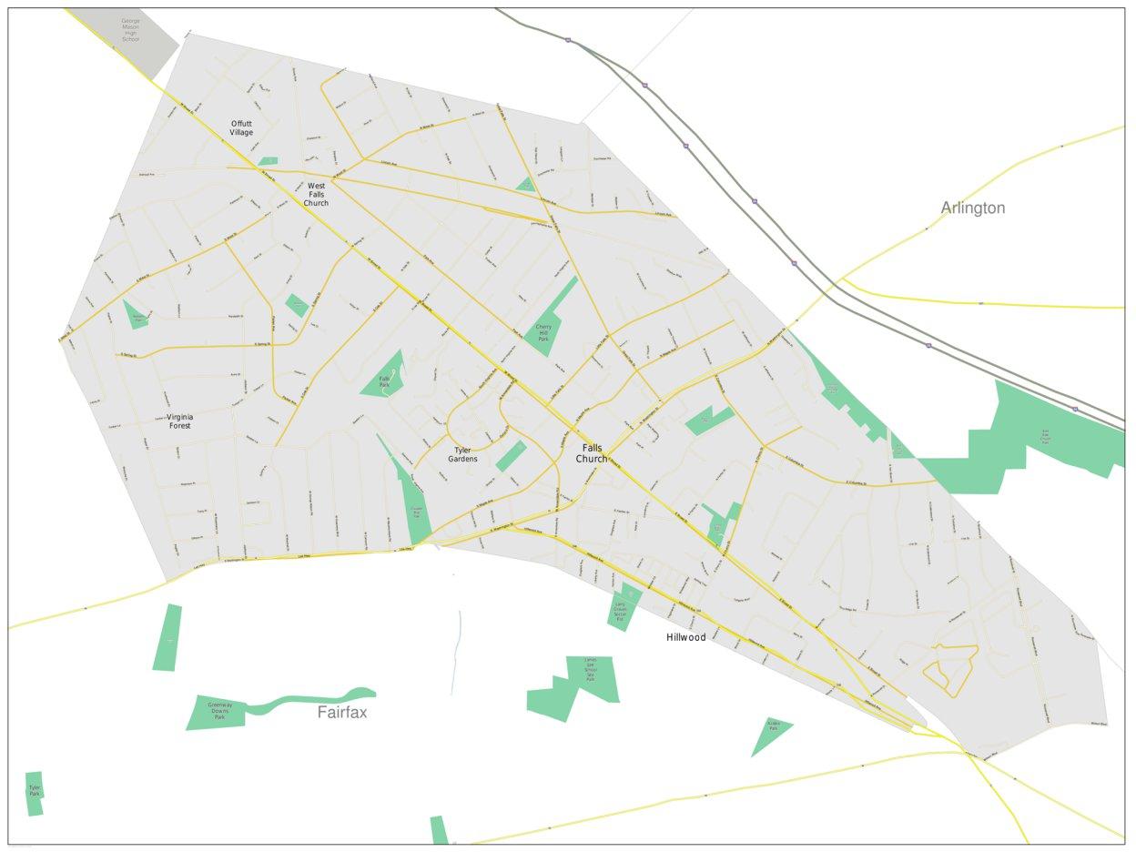 Falls Church Virginia Map.Falls Church Va Marketmaps Avenza Maps