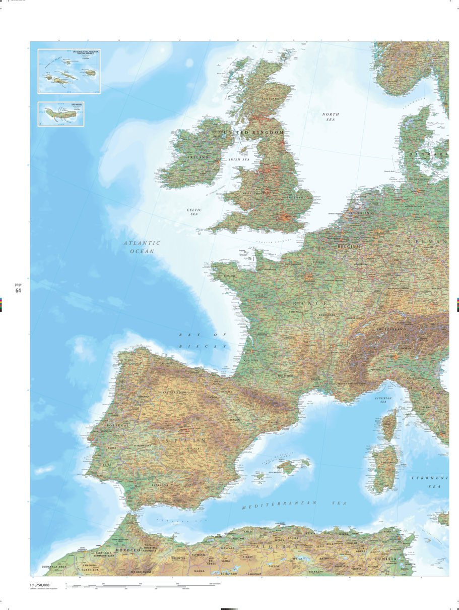 Picture of: Western Europe Earth Platinum Pg 64 Millennium House Avenza Maps