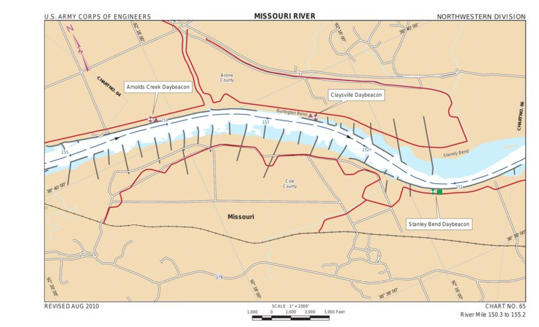 Lower Missouri River Mile 1503 to 1552 US Army Corps of
