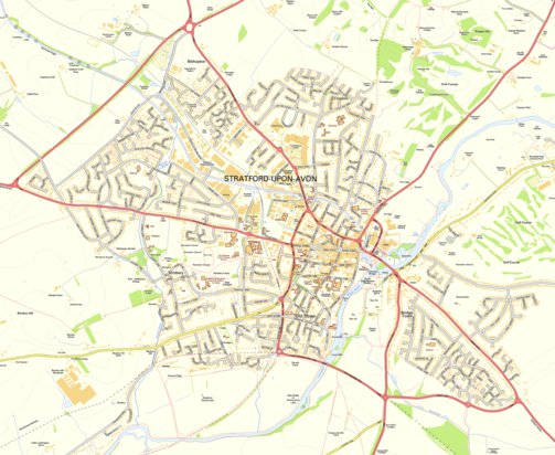 Stratford Upon Avon Street Map