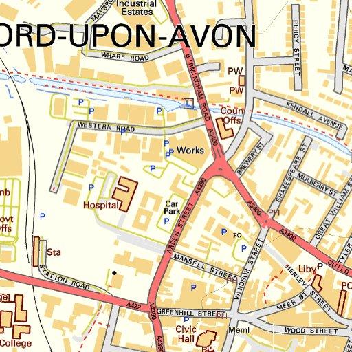 Stratford upon Avon Street Map JohnThornMaps Avenza Maps