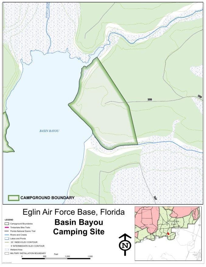 Eglin Afb Camping Basin Bayou Eglin Air Force Base Avenza Maps