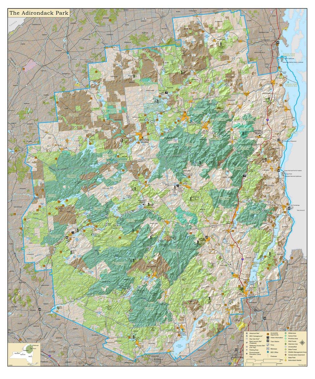 Adirondack Park Map - mapsoffline.com - Avenza Maps on new york map, pinckney chain of lakes map, great sacandaga lake map, binghamton map, ny map, boston map, watertown map, gunks map, cape cod map, philadelphia map, plattsburgh map, colorado scenic drives map, mount marcy trail map, essex chain lakes map, albany map, saranac lake map, hiking map, lake placid map, long island map, schenectady map,