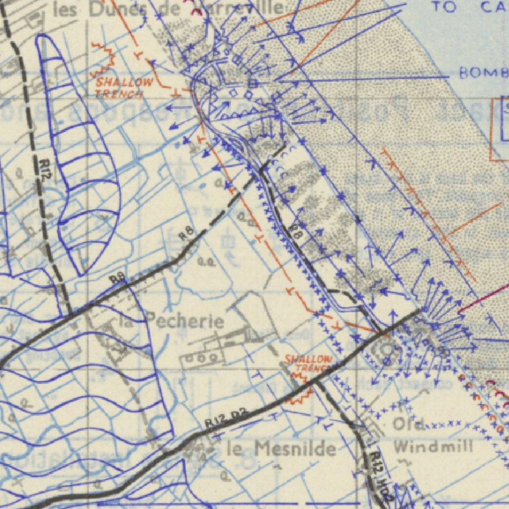D Day Historical Map Sainte Marie Du Mont Xyz Maps Avenza Maps