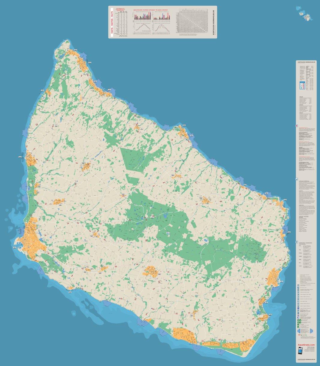 Bornholm Christiansoe Kortguide Bornholm Dk Avenza Maps