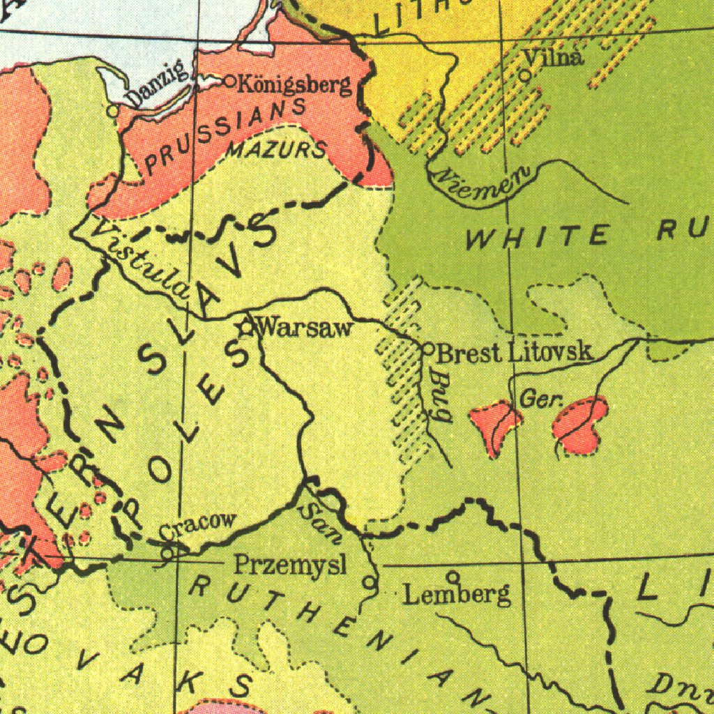 Races Of Europe 1918 - National Geographic - Avenza Maps