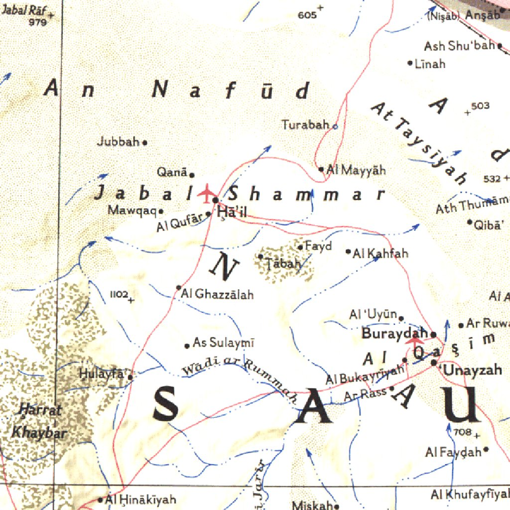 Middle East Map East 1978 National Geographic Avenza Maps