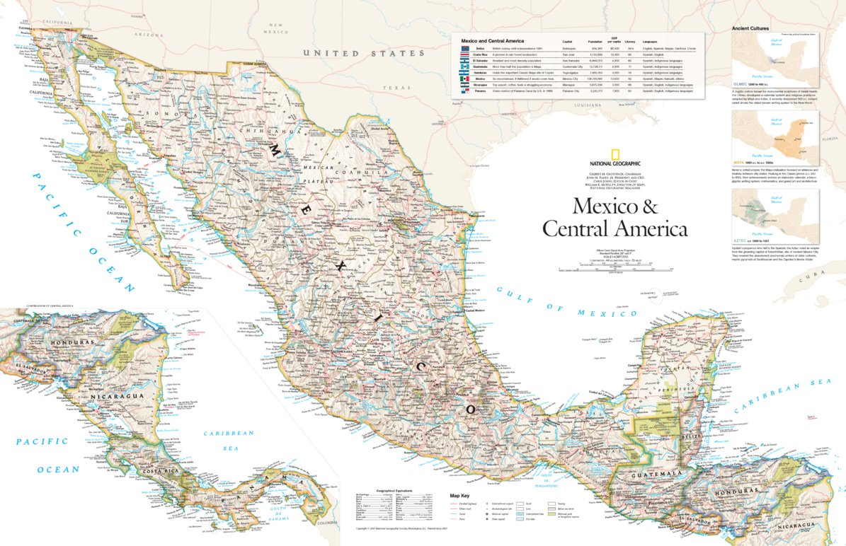 Picture of: Mexico Central America 2007 National Geographic Avenza Maps