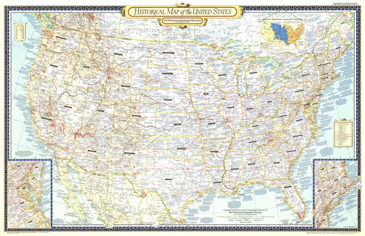 Historical Map Of The United States 1953 - National Geographic ...