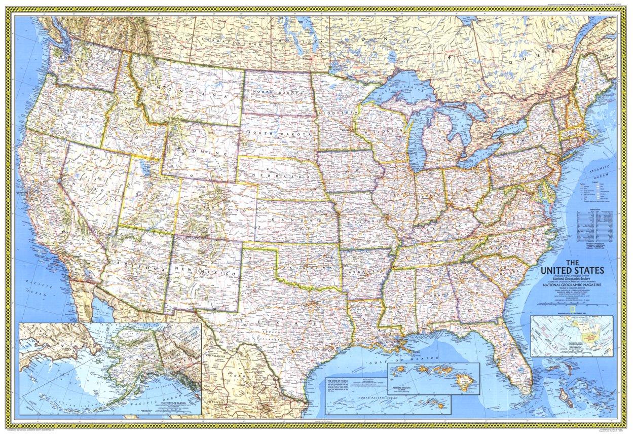United States 1987 - National Geographic - Avenza Maps