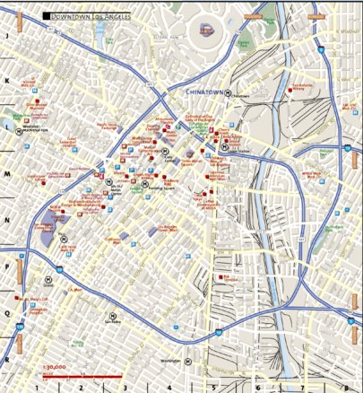 Downtown Los Angeles - National Geographic - Avenza Maps on