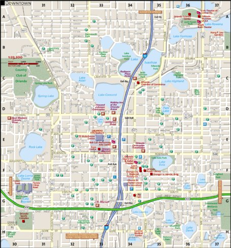 Downtown Orlando Map Downtown Orlando   National Geographic   Avenza Maps