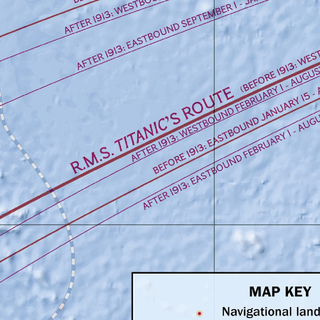 Titanic - National Geographic - Avenza Maps
