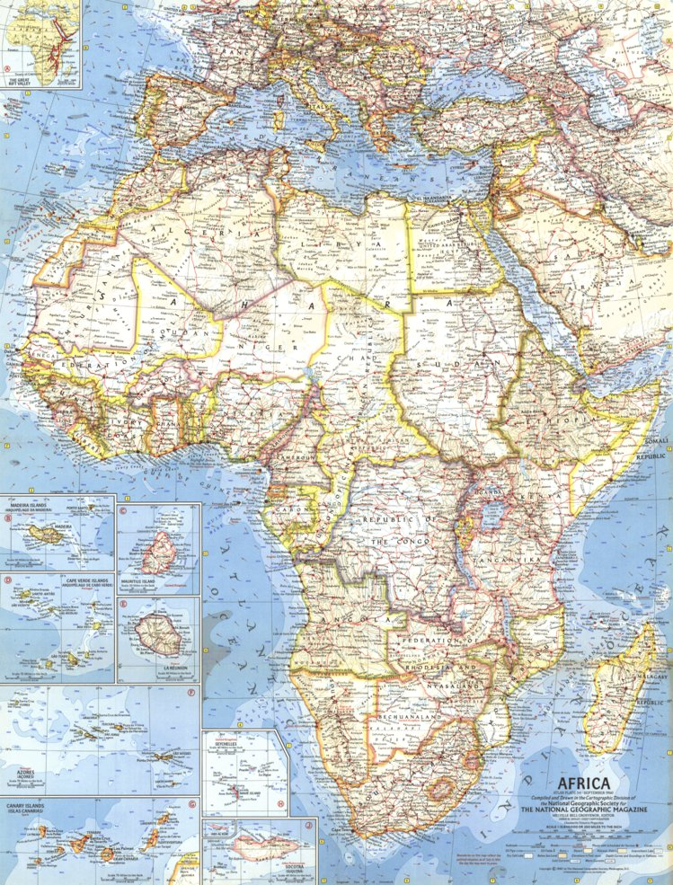 Map Of Africa 1960 Africa 1960   National Geographic   Avenza Maps