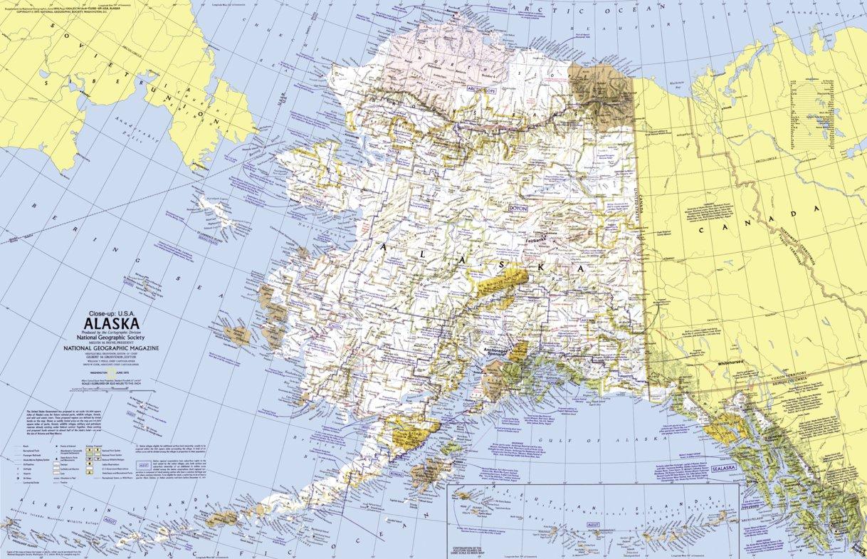 Alaska 1975 National Geographic Avenza Maps