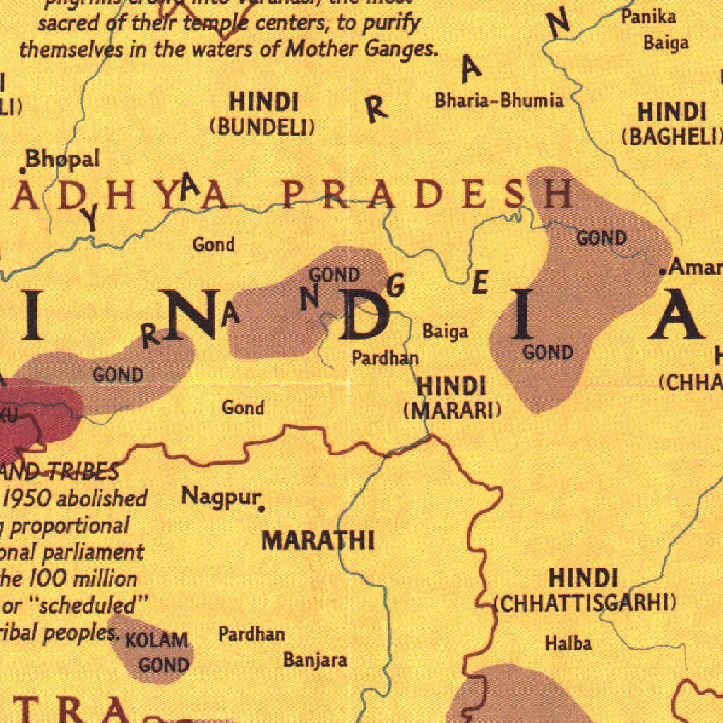 Map Of Asia 1950.Peoples Of South Asia 1984 National Geographic Avenza Maps