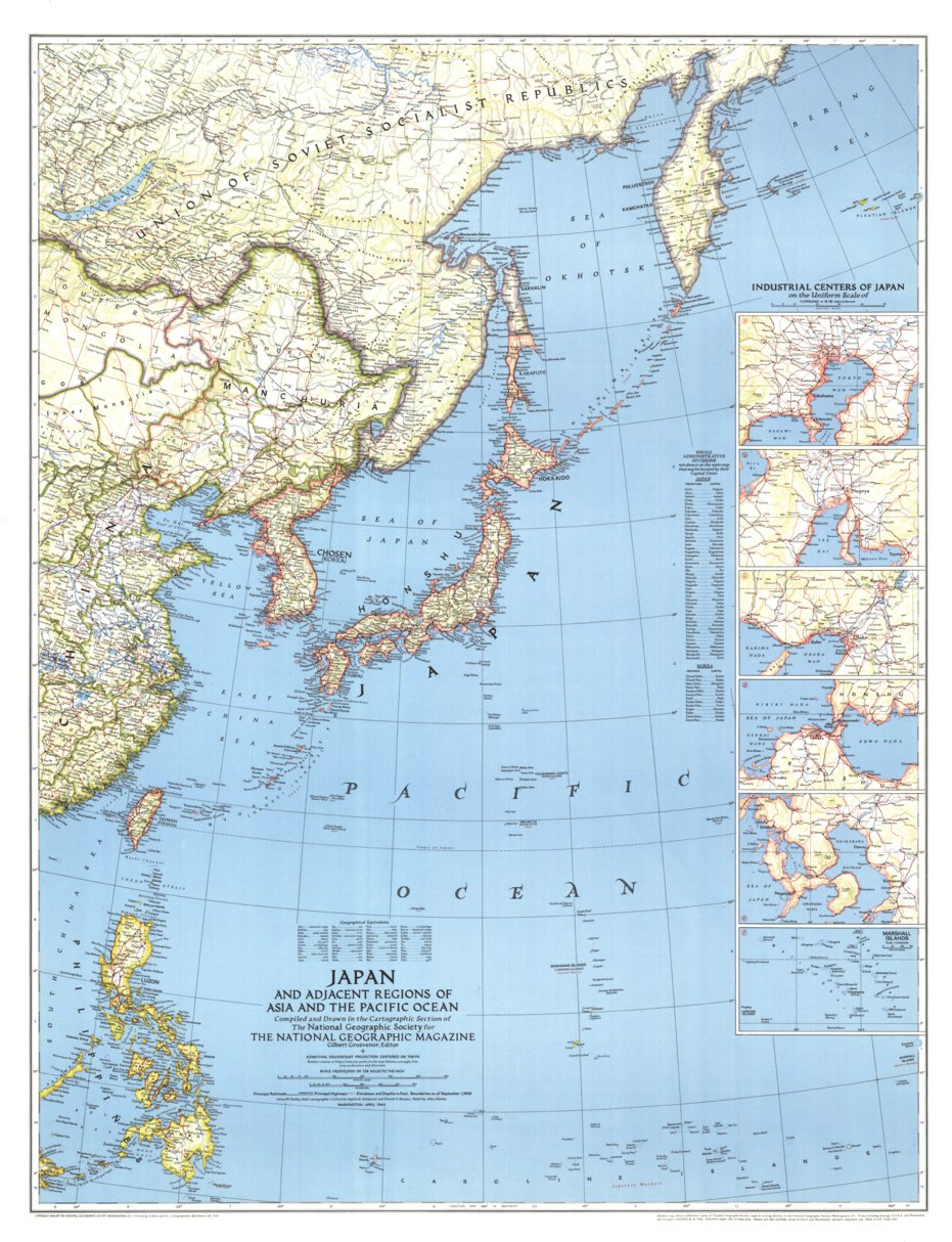 Picture of: Japan 1944 National Geographic Avenza Maps