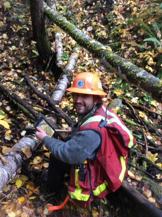 Selkirk College Forestry student
