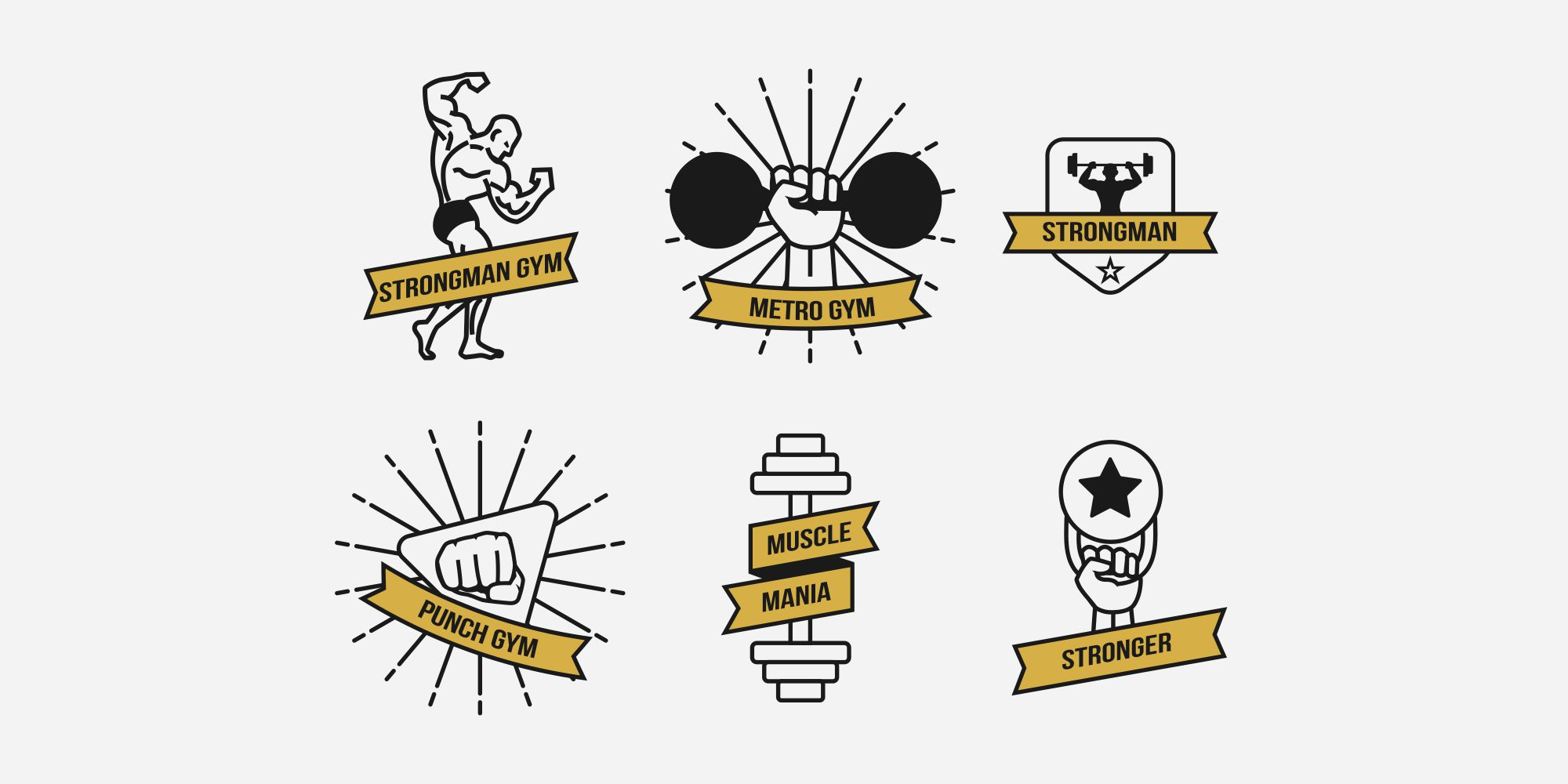 Shown Gym And Fitness Logos