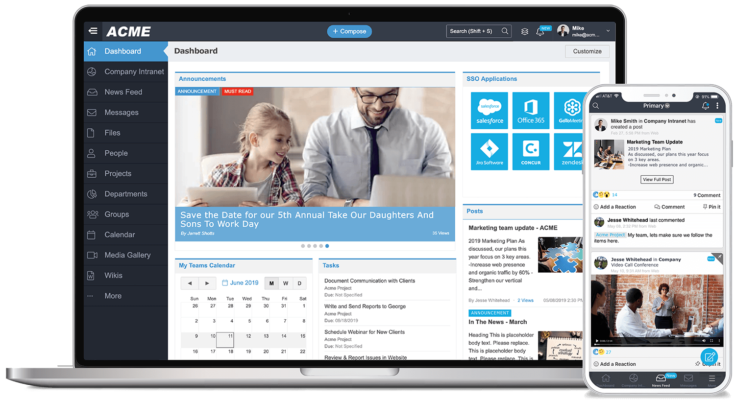 MangoApps: An Integrated Suite of Workplace Apps for Mid-Market