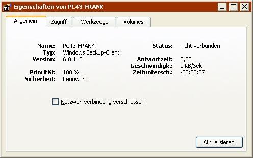 Retrospect: Windows Benutzerhandbuch > Vernetzte Client-Computer