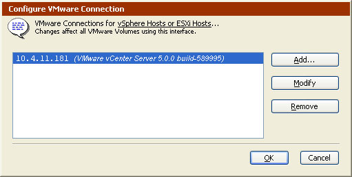 Configure VMware Connections Window 1