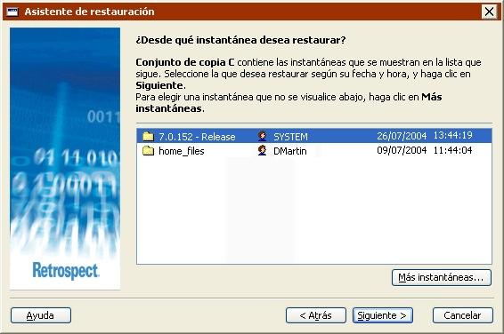 retrospect guía del usuario para windows operaciones inmediatas