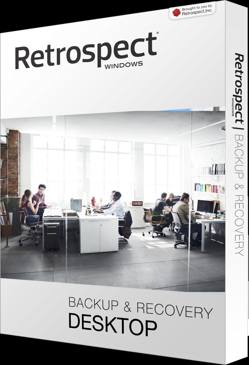 Retrospect for windows desktop left