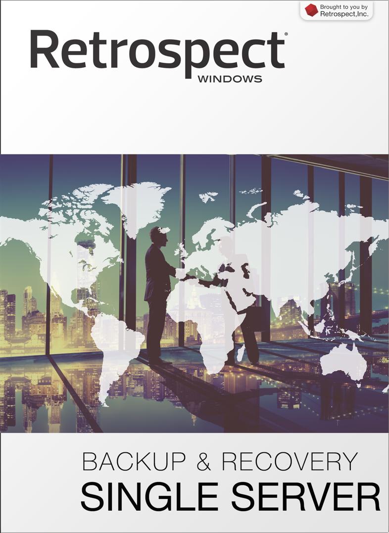 Retrospect for windows single server front