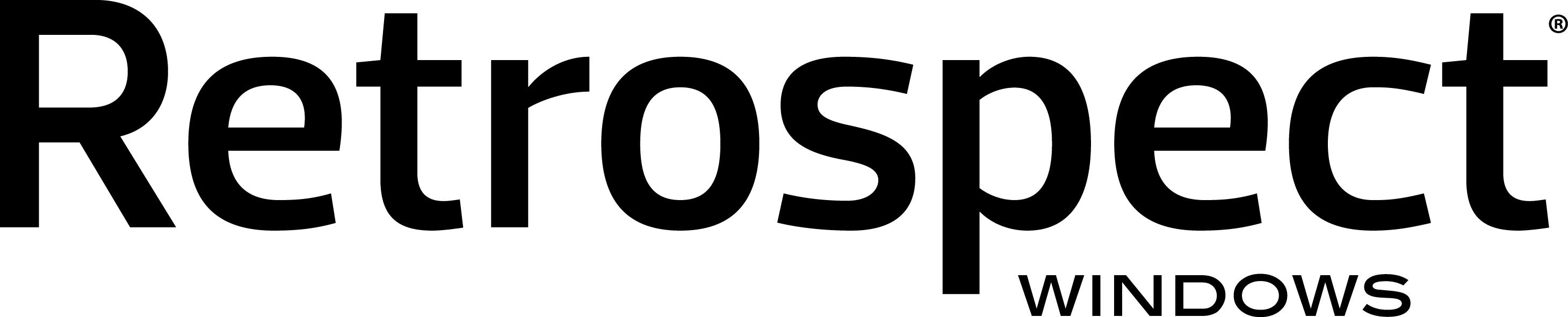 Retrospect product logo win