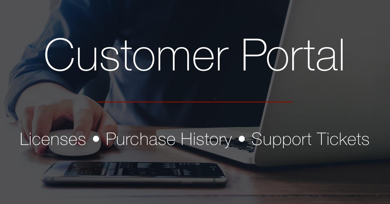 Customer portal header