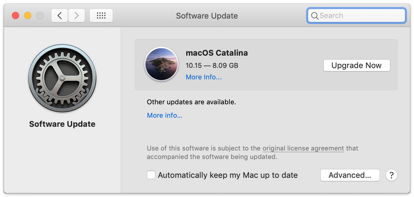 Macos catalina upgrade