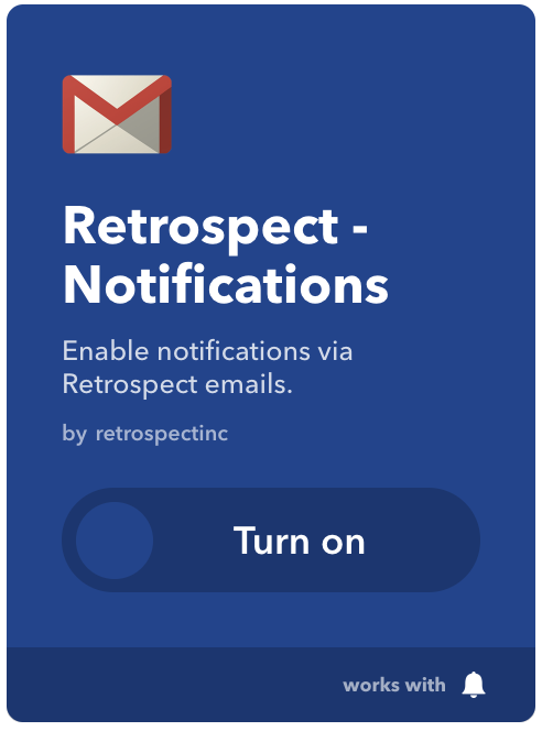 Retrospect ifttt notifications