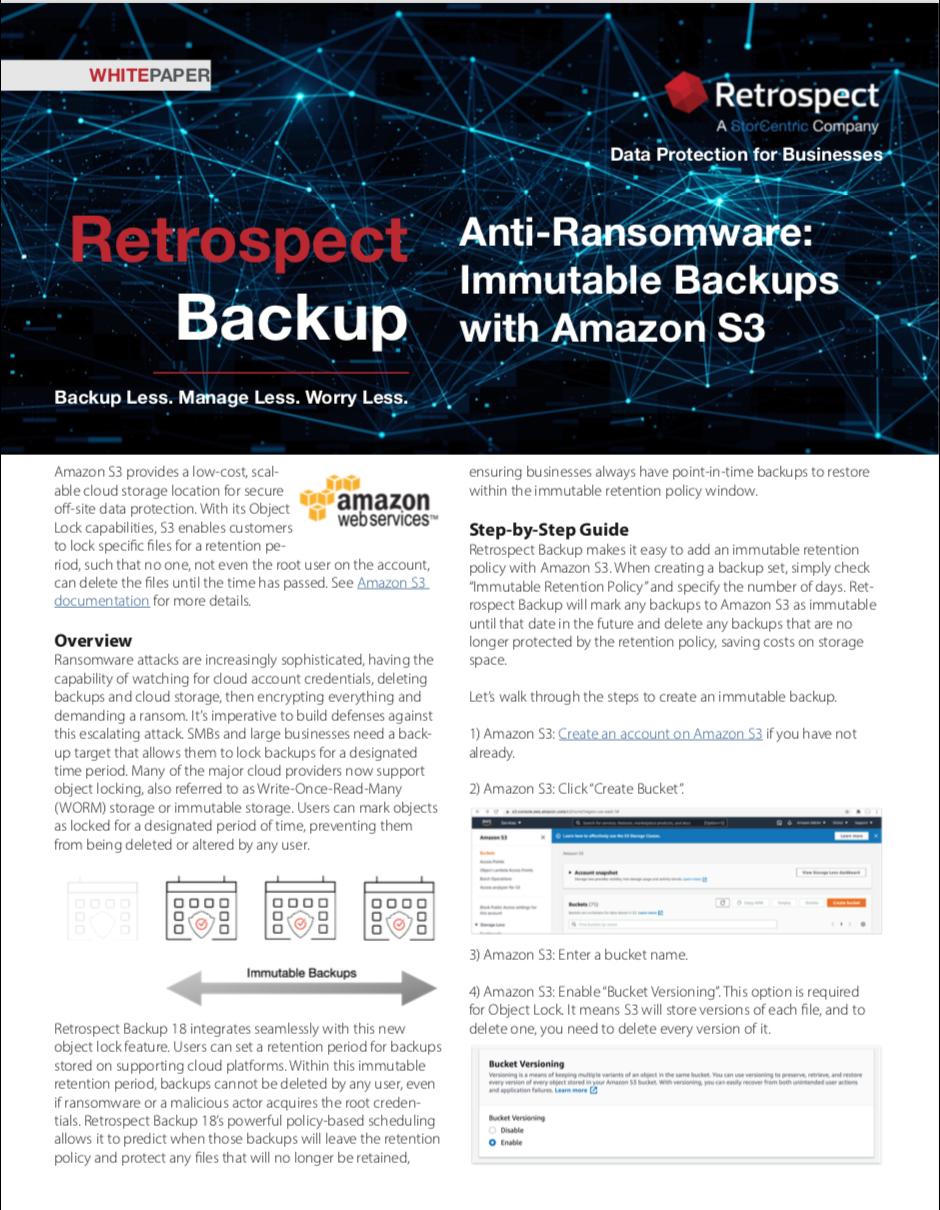 Retrospect+backup+ +white+paper+ +immutable+backups+on+amazon+s3