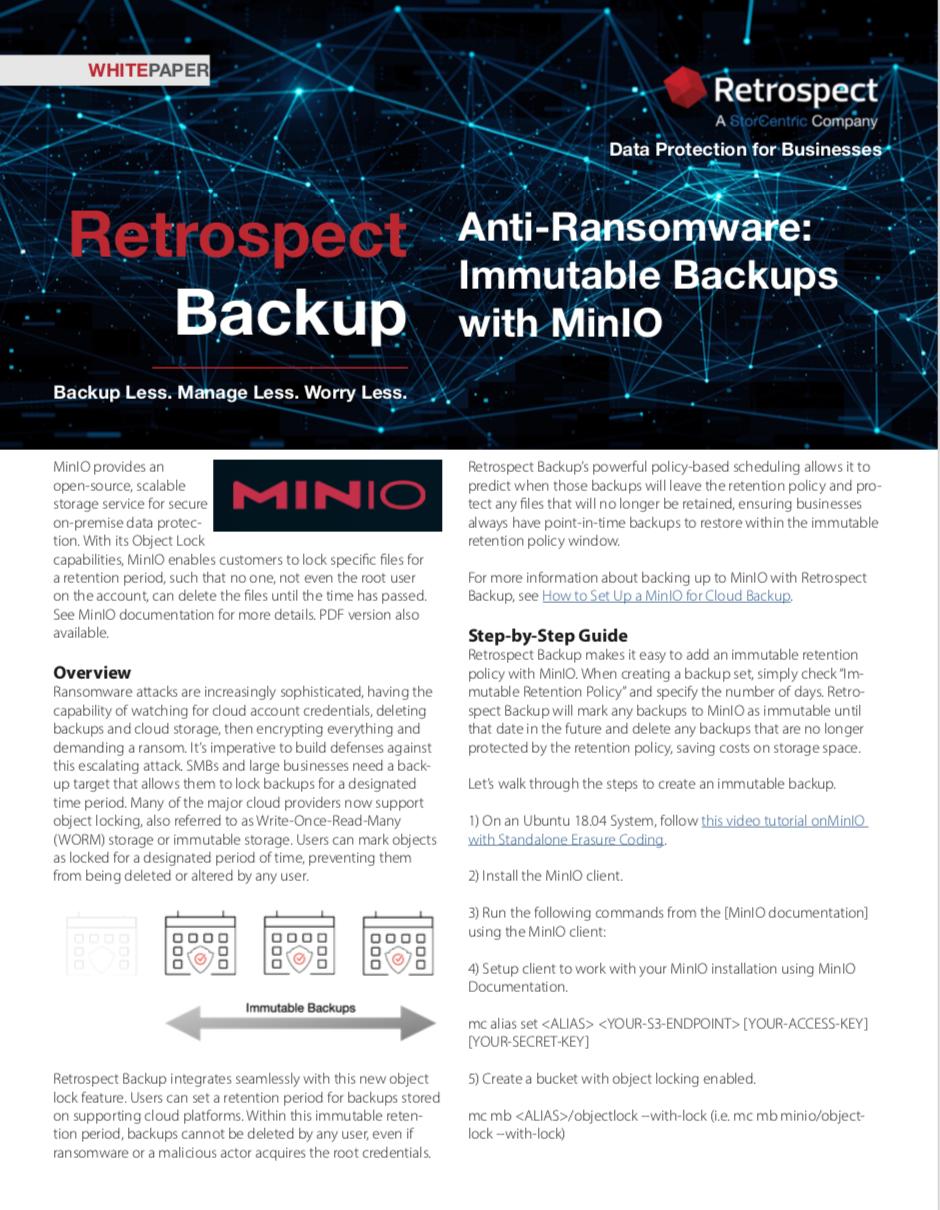 Retrospect+backup+ +white+paper+ +immutable+backups+on+minio