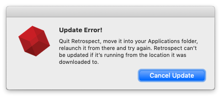 Auto update mac update error