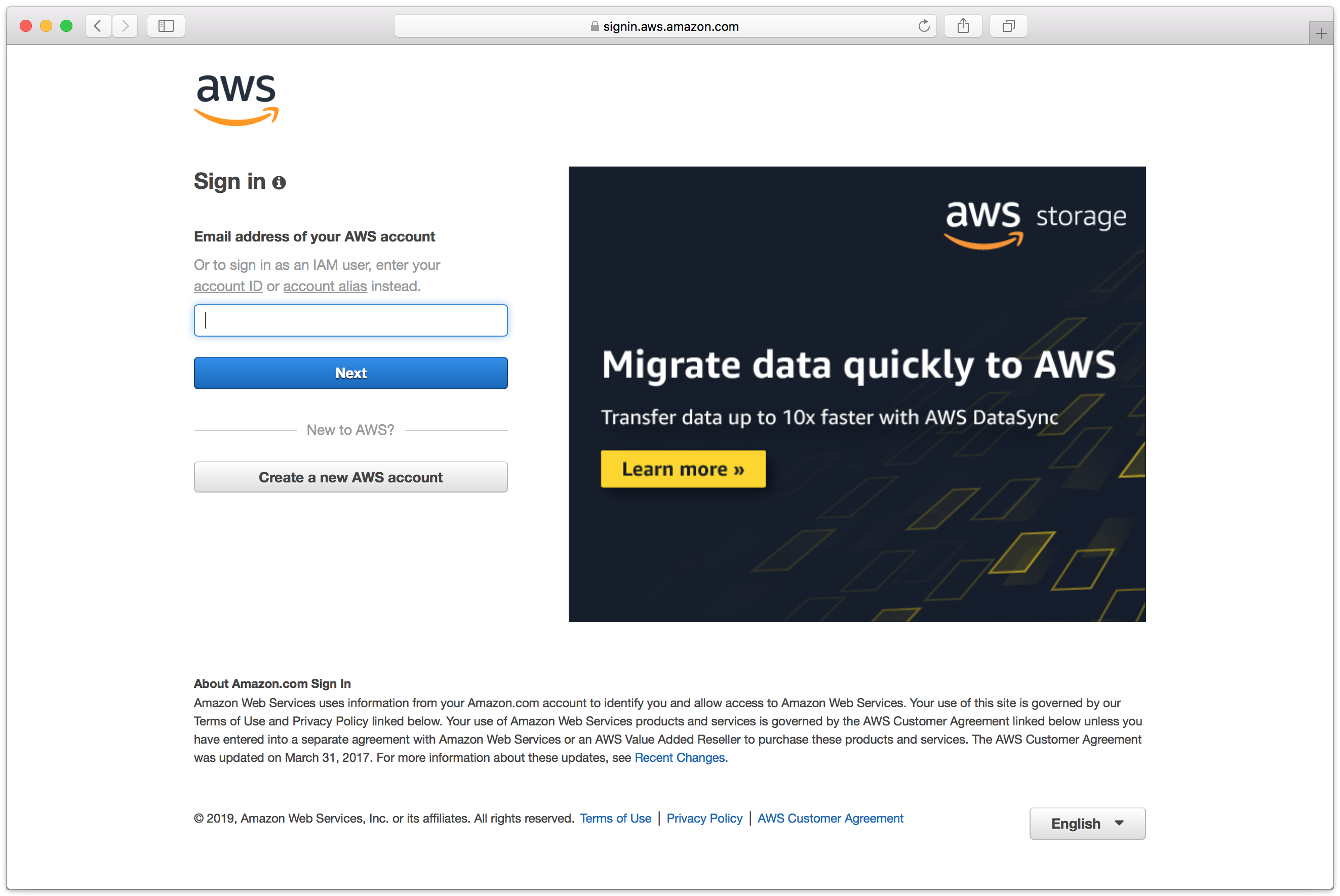 8 1 login to aws