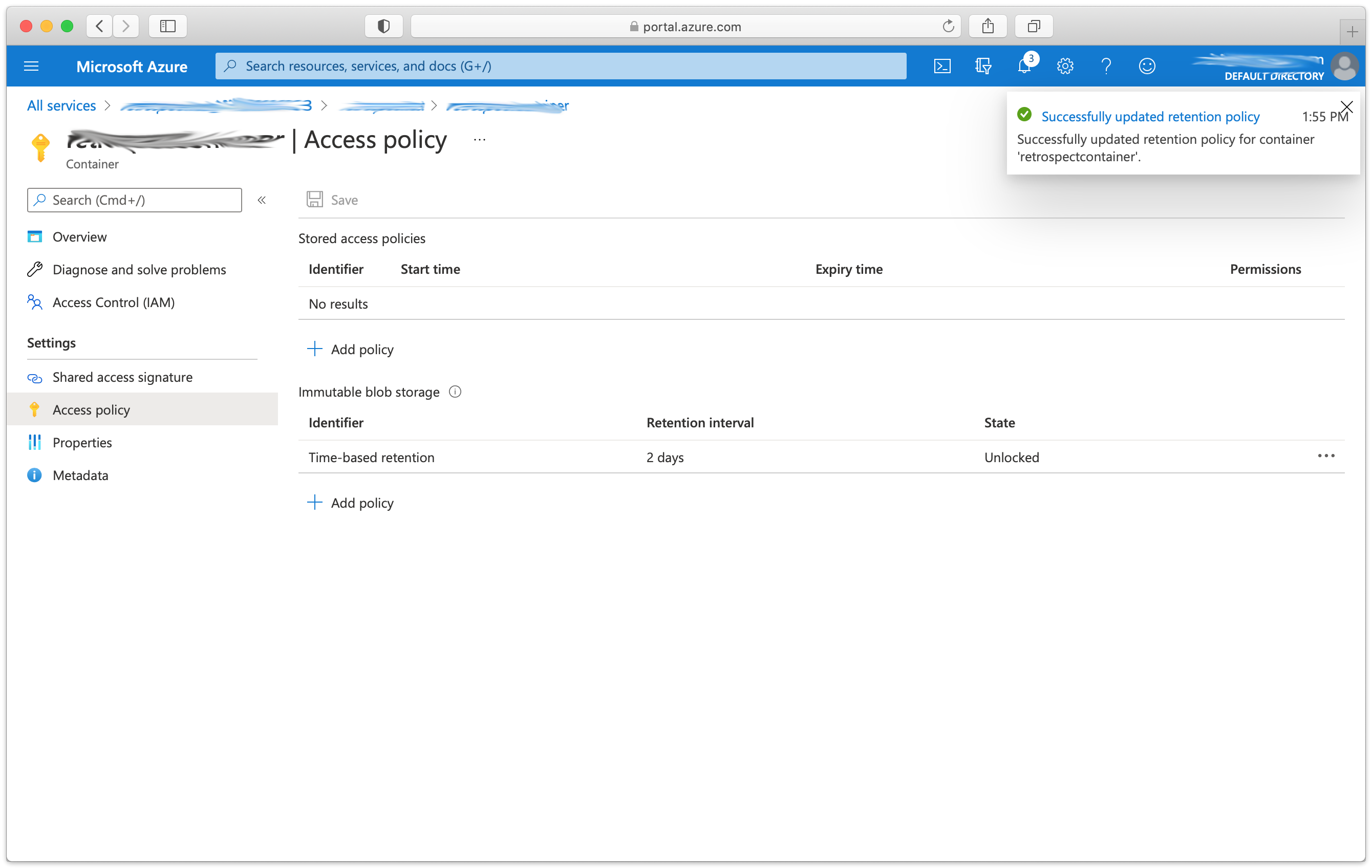 12 azure policy added