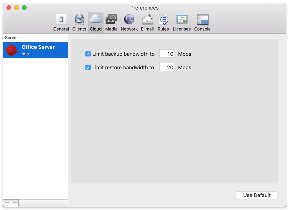 Cloud backup preferences mac