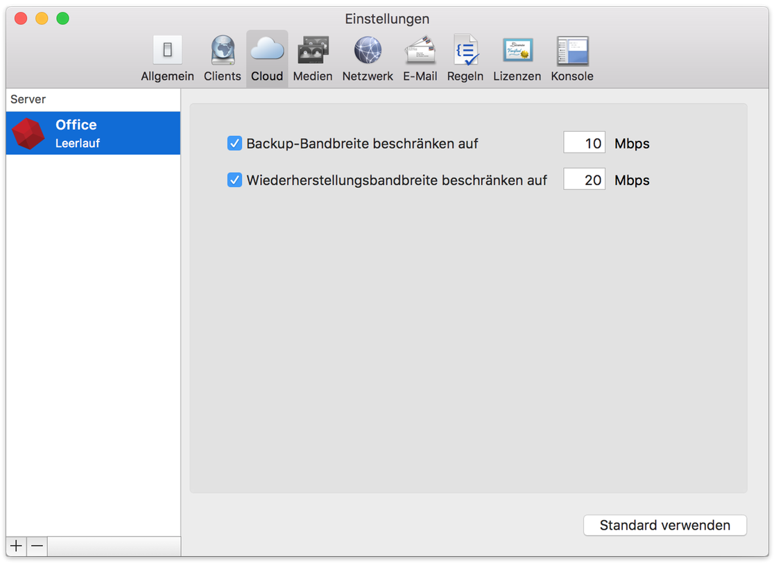Cloud backup preferences mac de