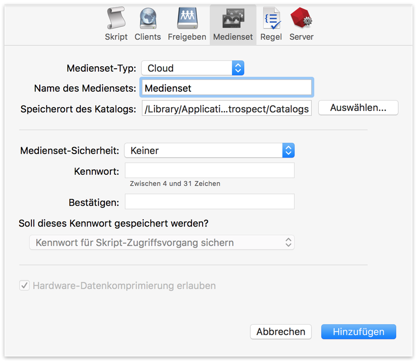 Cloud backup selection mac de