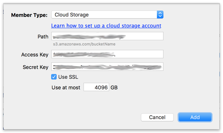 Cloud backup settings mac