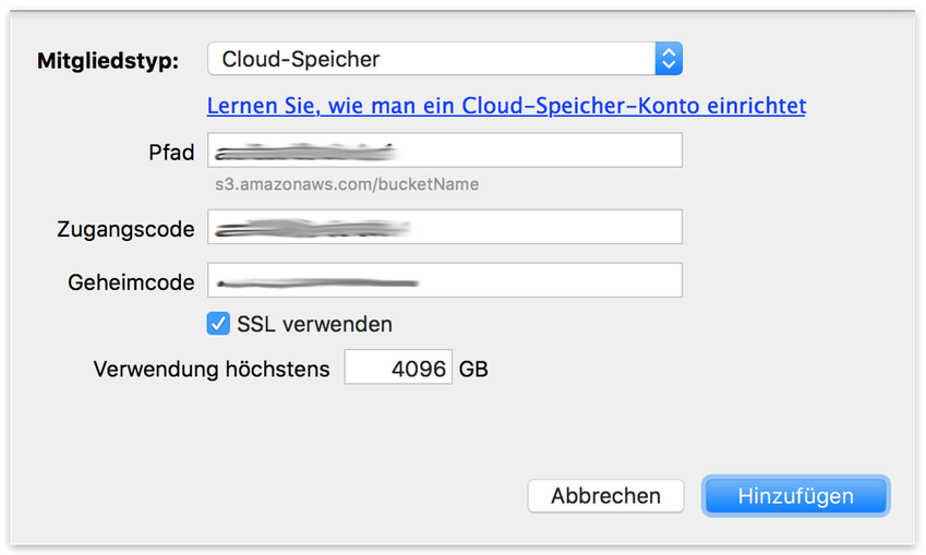 Cloud backup settings mac de