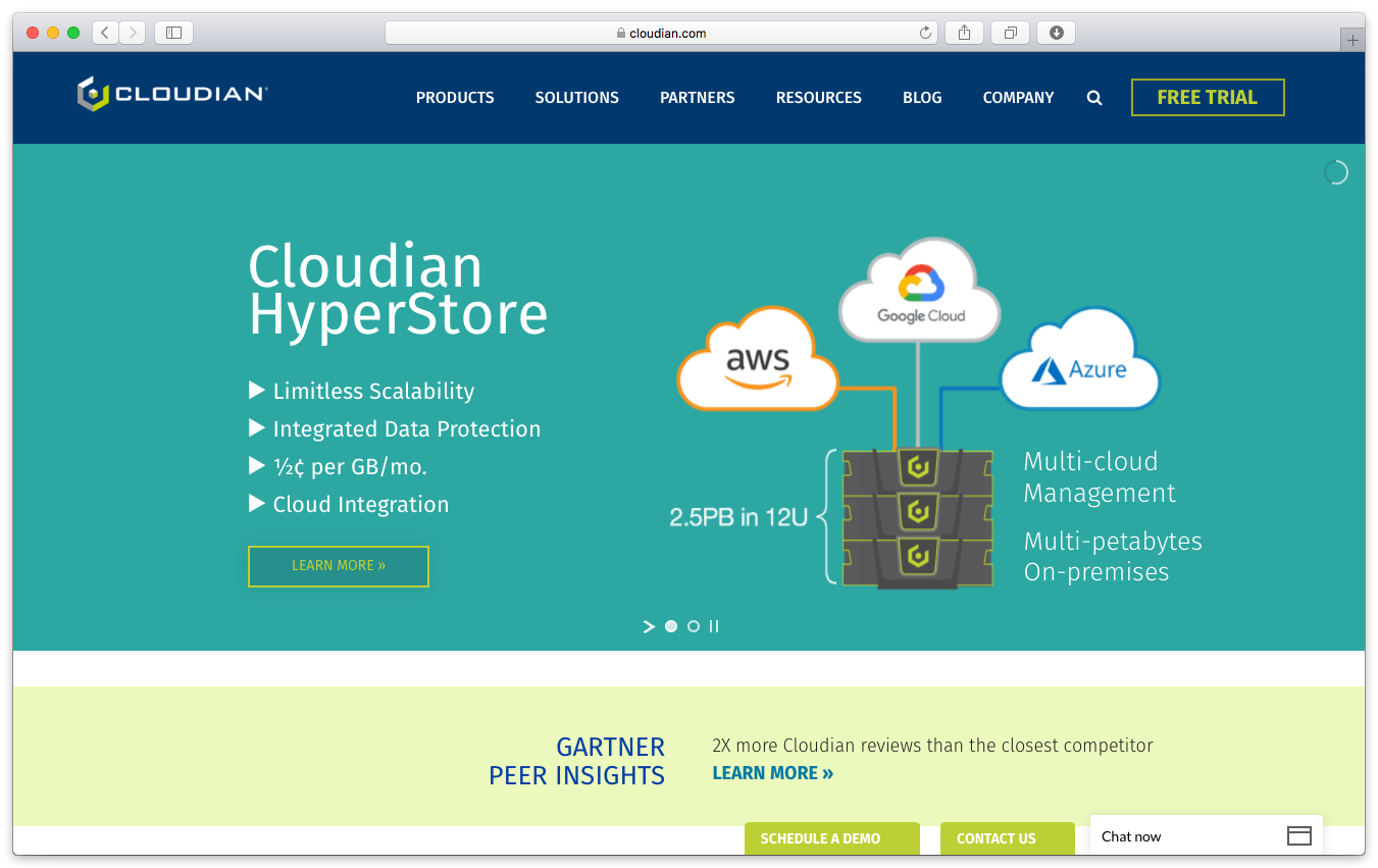 Cloudian homepage